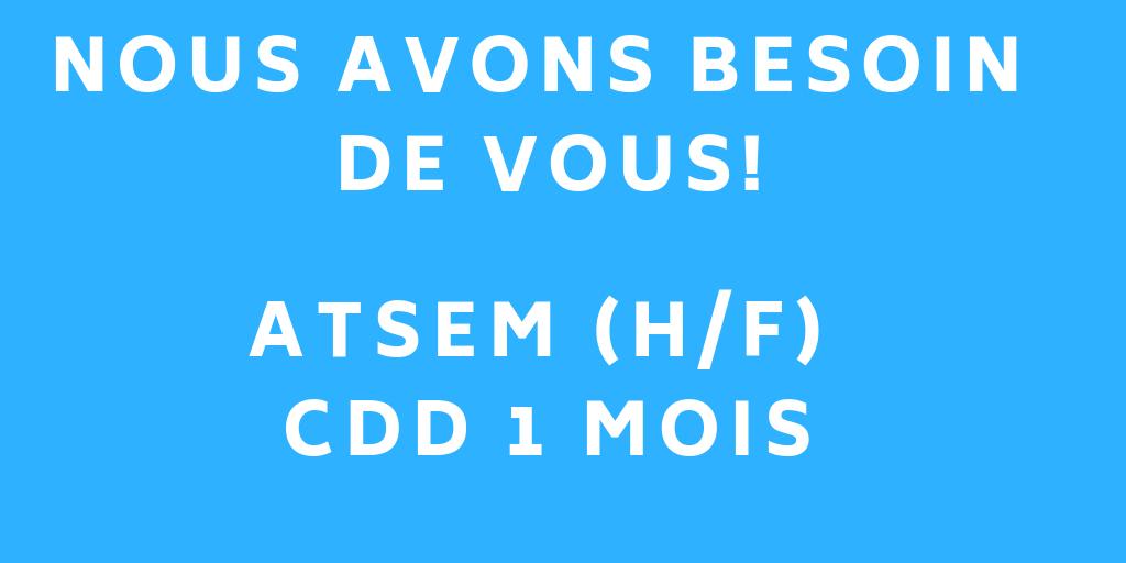 ATSEM (H/F) CDD 1 mois