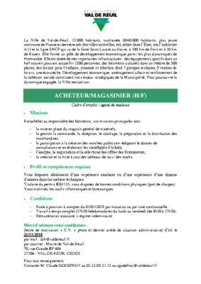 Acheteur Magasinier HF