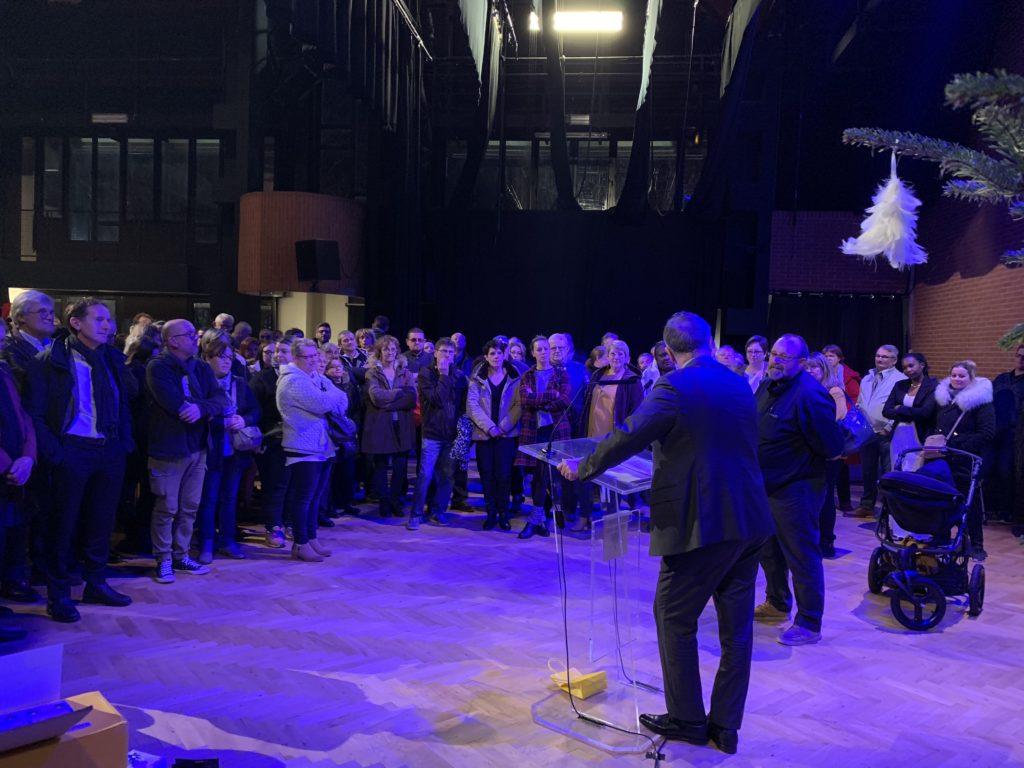 Une foule d'amis, de salariés et d'anciens salariés réunis à la MJA pour le départ en retraite d'Eric Hébert