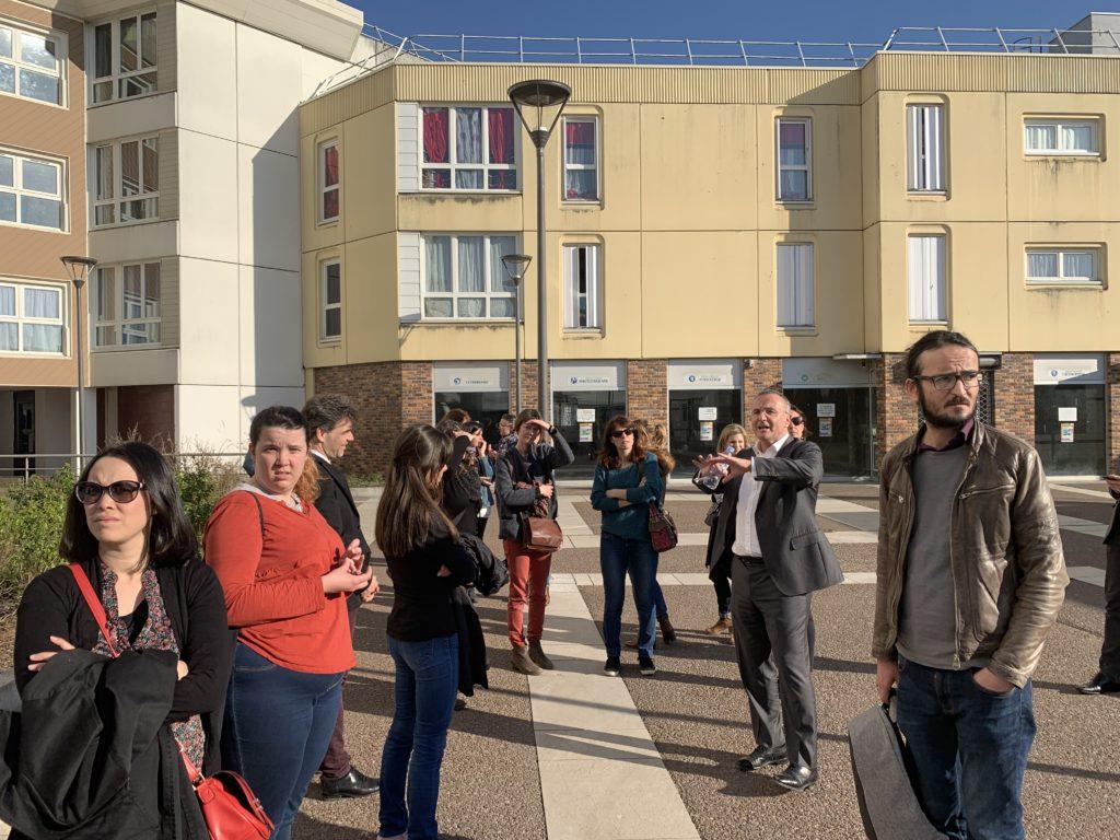 Une quinzaine d'enseignants a découvert la ville entourés d'un guide hors pair : Marc-Antoine Jamet
