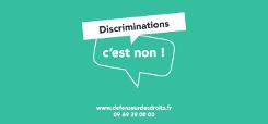 les discriminations c'est non !