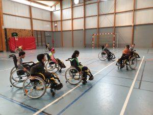Les enfants ont participé à des activités de sensibilisation autour du handicap, du footbal féminin et comment rouler en toute sécurité