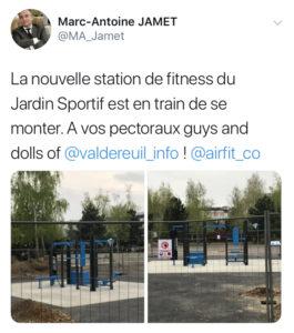 La nouvelle aire de fitness du Jardin Sportif ouvrira ses portes cette année