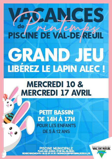 Grand jeu à la piscine : Libérez le lapin de Pâques