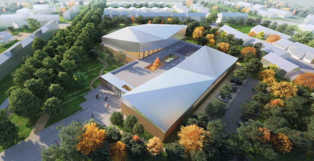 Léo Lagrange se développera sur 4 300m² pour un budget de 6,8 millions d'euros, sa construction demandera 16 mois de chantier