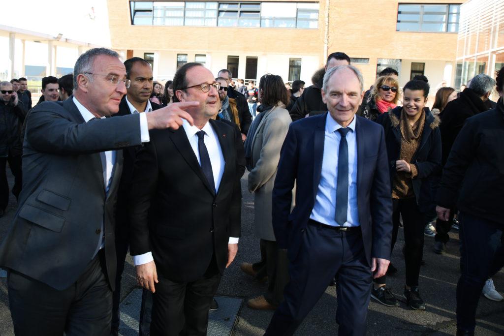 François Hollande a été accueilli par Marc-Antoine Jamet