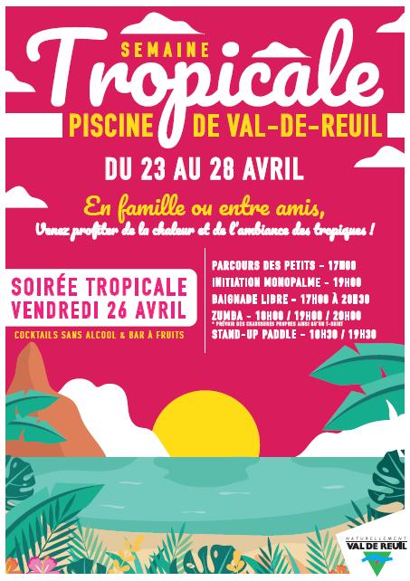 Loisirs – Soirée tropicale à la piscine municipale