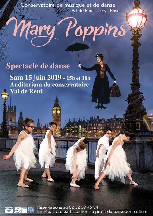 """Spectacle de danse """" Mary Poppins """" à l'auditorium du conservatoire de musique et de danse"""