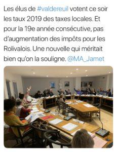 Le vote des taux des taxes locales lors du Conseil municipal du 1er Avril