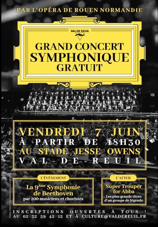 7 juin : L'Opéra de Rouen Normandie à Val-de-Reuil pour un grand concert symphonique gratuit