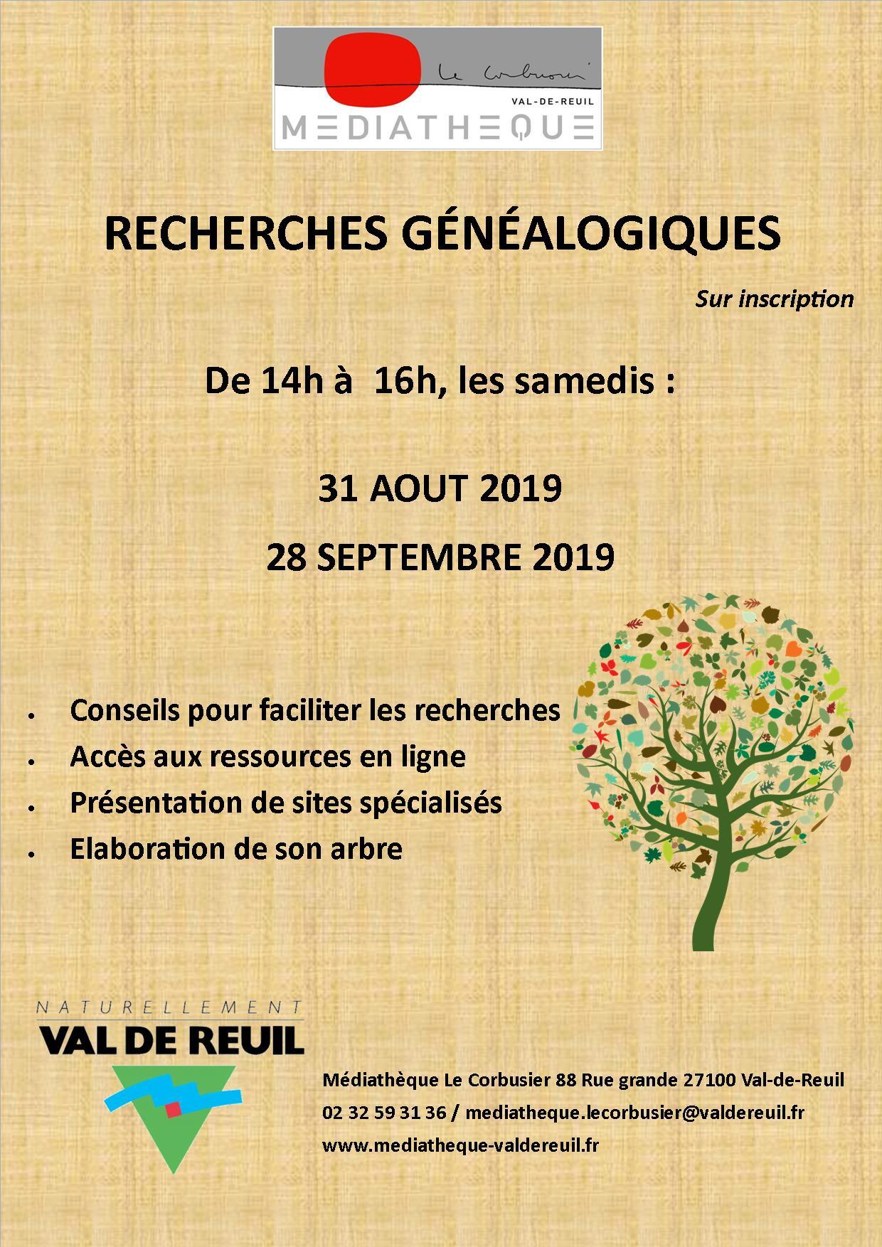 Atelier de recherches généalogiques à la médiathèque Le Corbusier