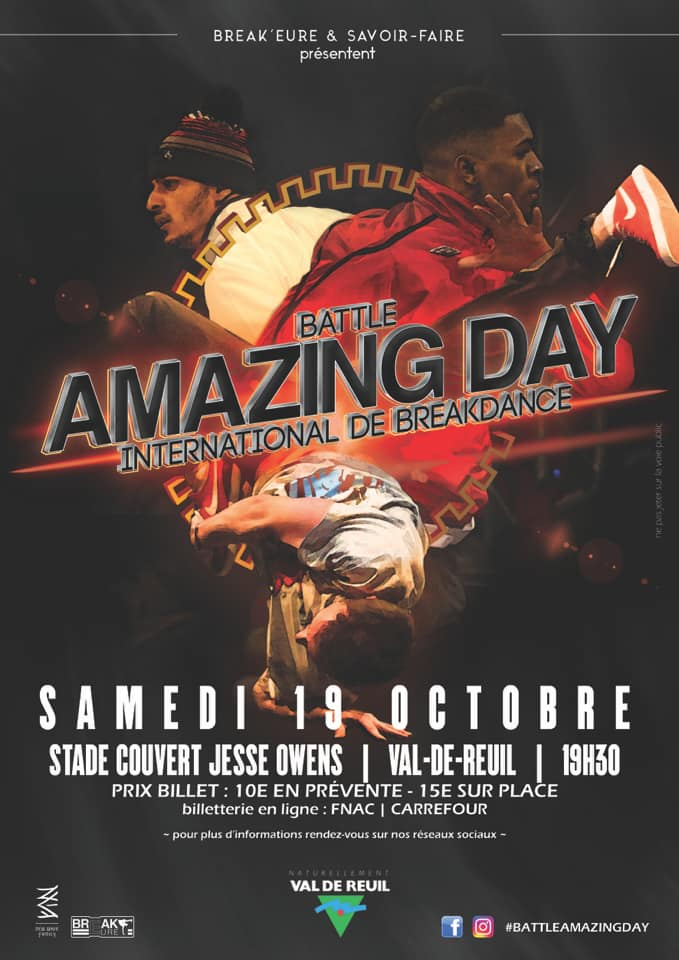 AMAZING Day – Battle international de Breakdance (3 VS 3)