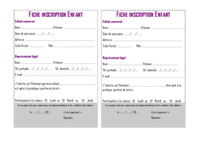 Fiche inscription multisports 2019 – 2020
