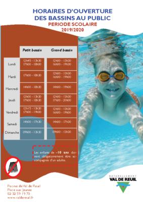 Horaires public piscine 19-20