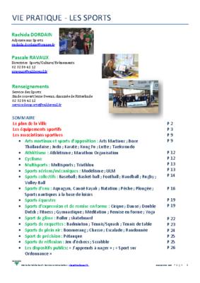 Guide des associations sportives 2019 – 2020