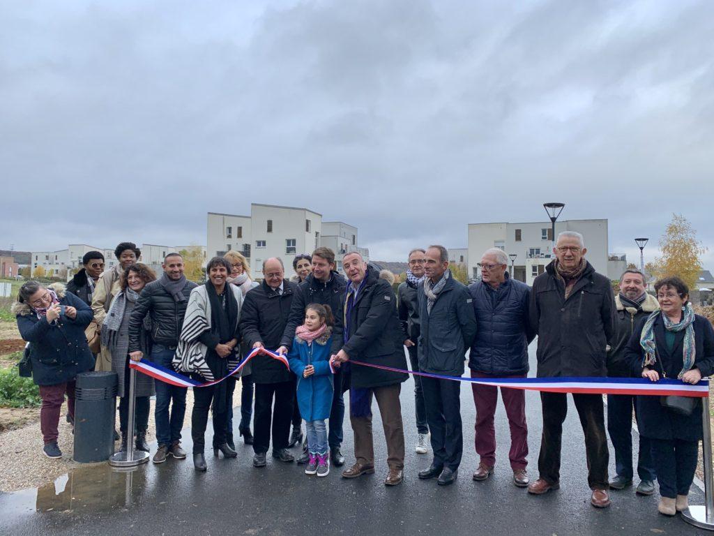 Elus, futurs propriétaires et représentants d'Amex étaient réunis samedi matin pour marquer ensemble le lancement de ce nouveau programme immobilier