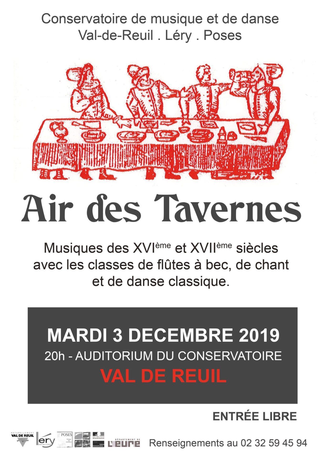 """Conservatoire Intercommunal de Musique et de Danse – """"Air des Tavernes du XVI et XVIIeme siècles"""""""