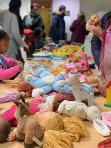 L'association des parents d'élèves organisait son premier troc aux jouets