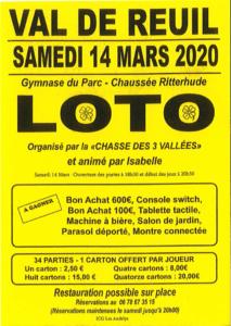 """Le loto de l'association """"La Chasse des 3 vallées"""""""