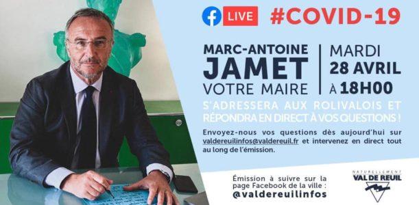 Rediffusion du Facebook Live de Marc-Antoine Jamet du 28 Avril 2020 à 18h