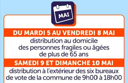 Marc-Antoine Jamet nous écrit pour la distribution des masques à Val-de-Reuil