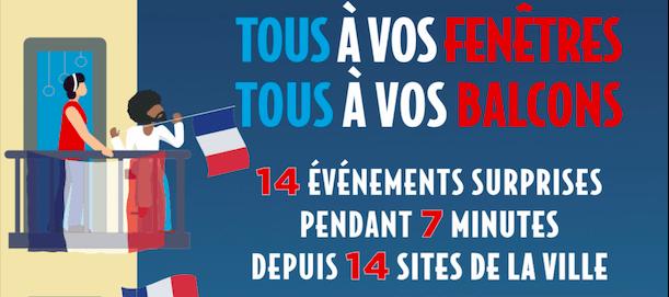 4 x 7 = 14.07 ! Pour la FêteNationale, le 14 juillet à 23h,tous à vos balcons, tous à vos fenêtres.