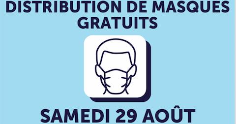 Nouvelle distribution de masques gratuits à tous les Rolivalois samedi 29 août de 14h30 à 18h30