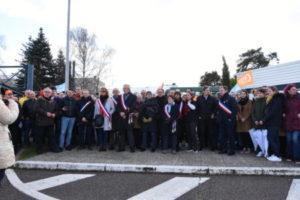 Les élus rolivalois s'étaient mobilisés au moment de l'annonce du déménagement du laboratoire vers la Belgique