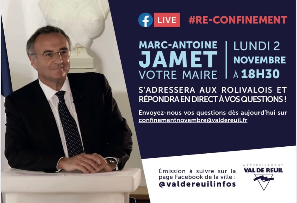 Marc-Antoine JAMET, Maire de Val-de-Reuil répond à vos questions le lundi 2 novembre à 18h30