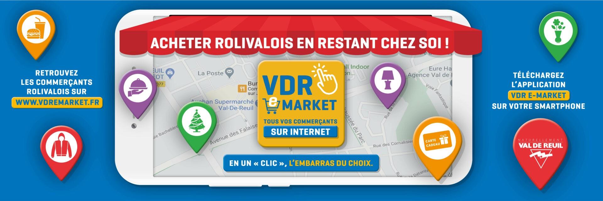 Vos commerçants rolivalois en clic et collectesur VDR e-market