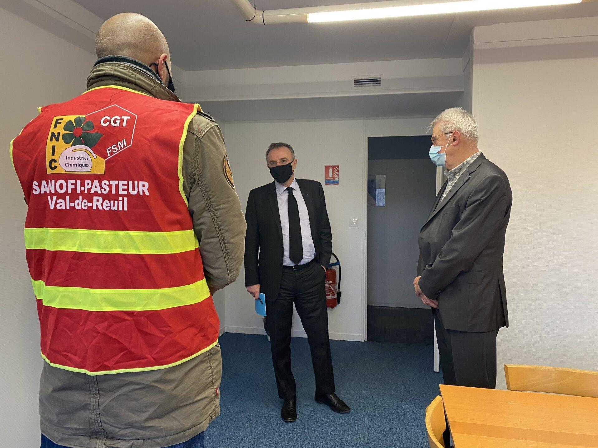 Communiqué : La Ville solidaire des salariés  du site de SANOFI de Val-de-Reuil