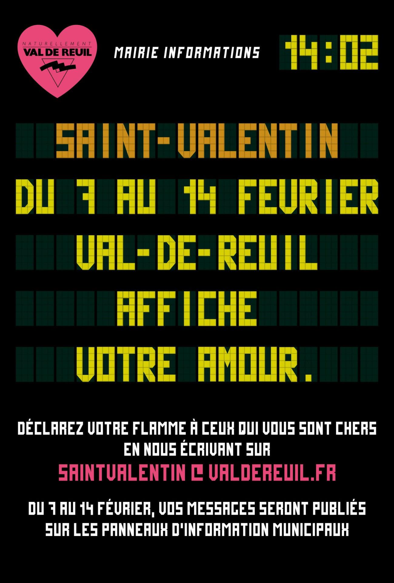 POUR LA SAINT VALENTIN, VAL-DE-REUIL AFFICHE VOTRE AMOUR !