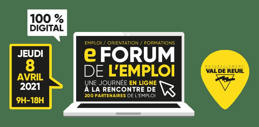 Tous au e-forum de l'emploi le jeudi 8 avril !
