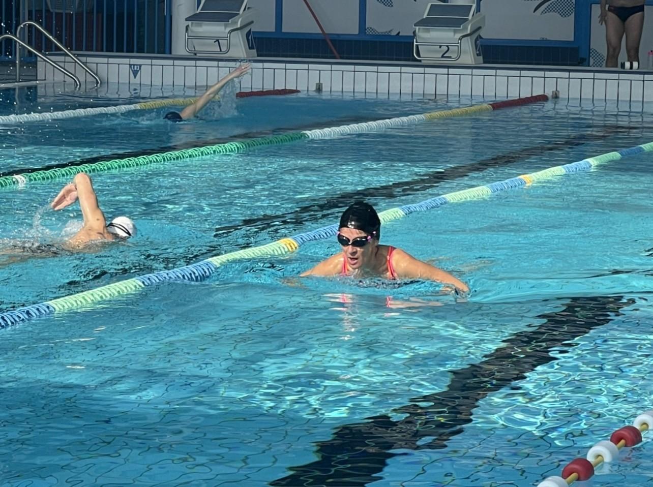 Premiers plongeons pour les nageurs !