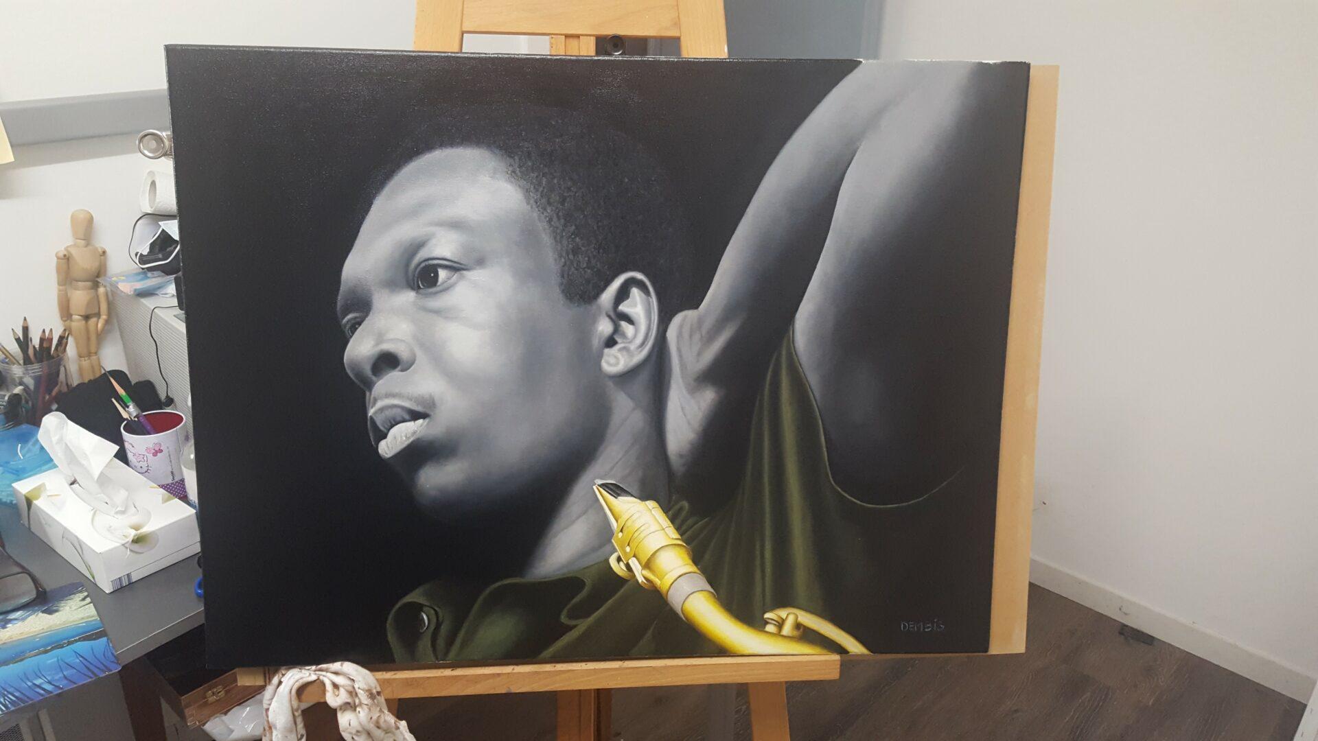 Demba Thiam, un artiste-peintre rolivalois plein de talent