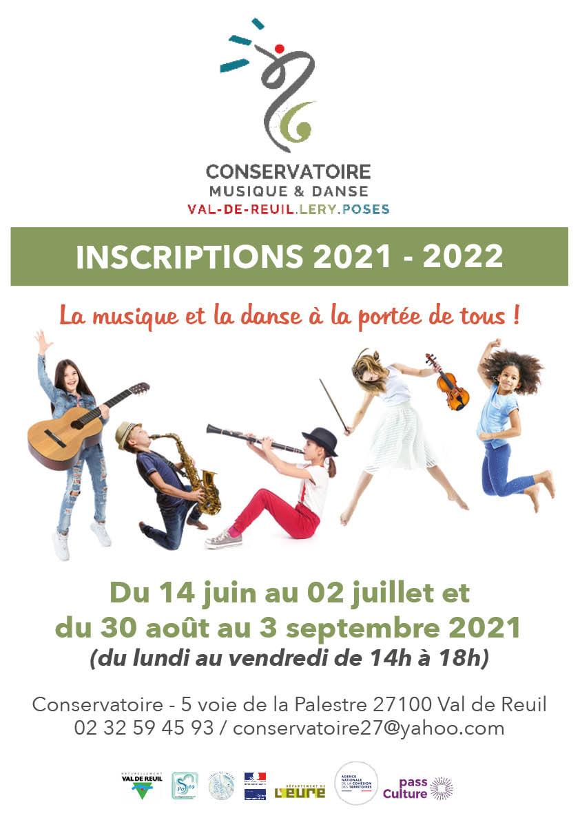 Conservatoire de musique et de danse : inscriptions 2021 – 2022