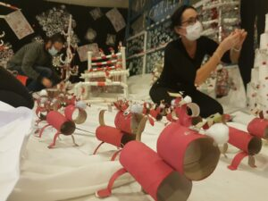 """Christine lors de son dernier projet """"au bout du rouleau"""" lors des fêtes de fin d'année"""