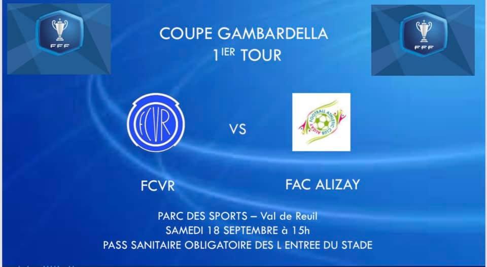 1er tour de la Coupe Gambardella : FCVR – FC Alizay