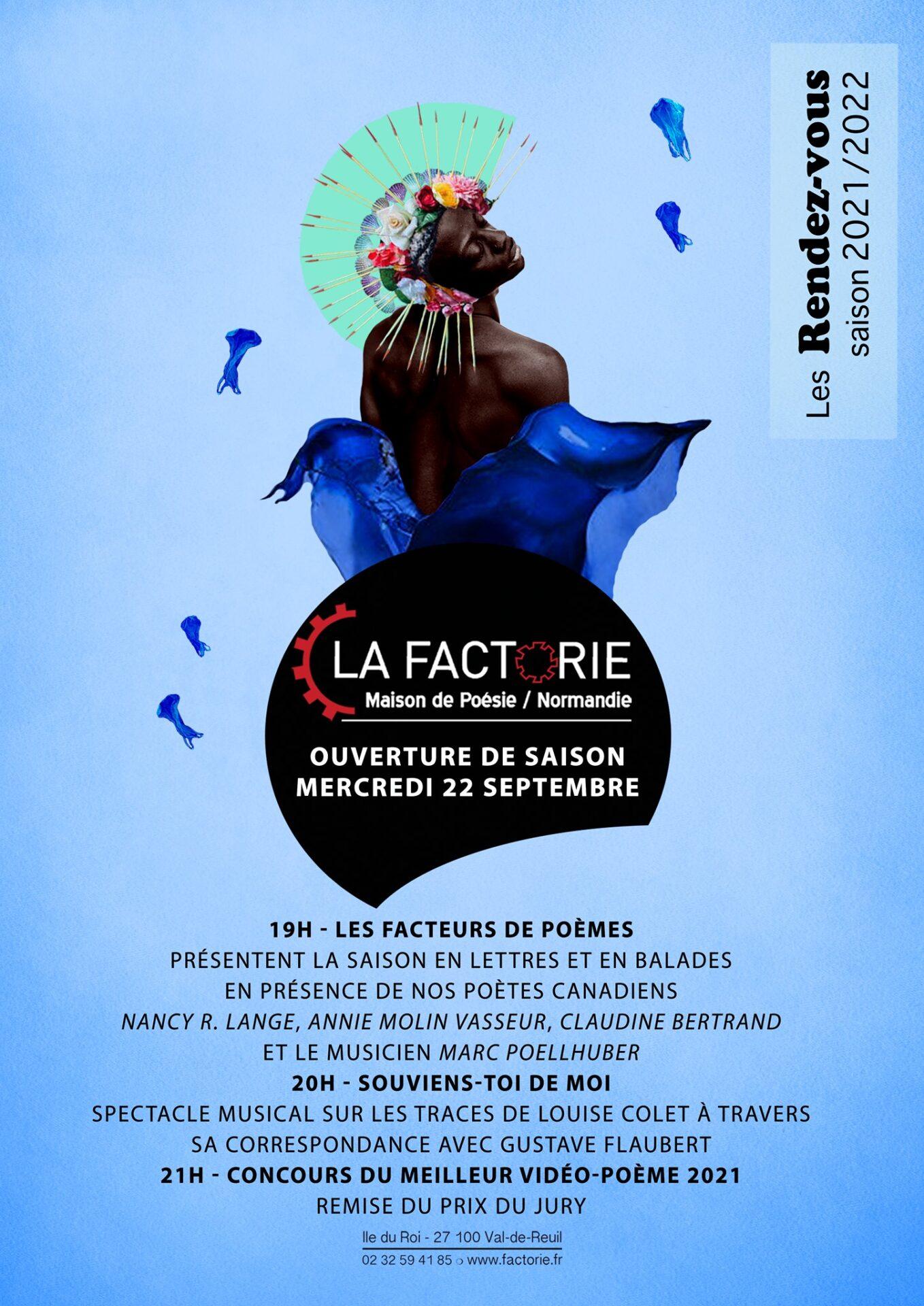Ouverture de saison de la Factorie – Maison de Poésie de Normandie