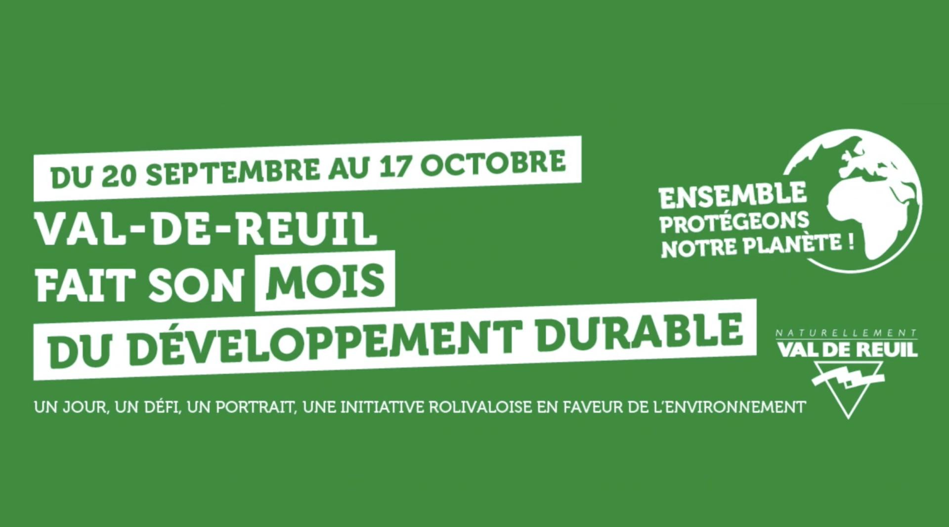 Val-de-Reuil fait son mois du développement durable : Programme de la semaine (vidéo)
