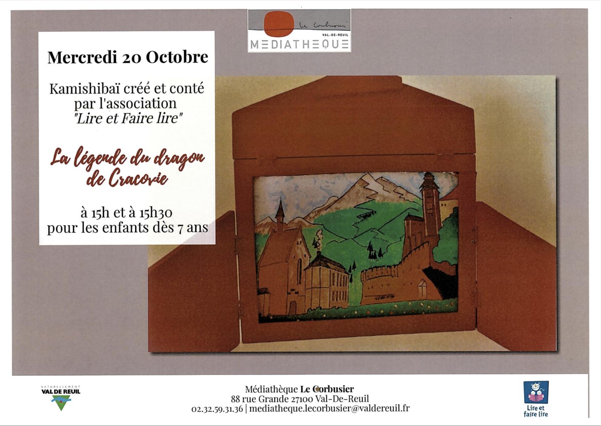 """Médiathèque Le Corbusier : """" La Légende du Dragon de Cracovie"""""""