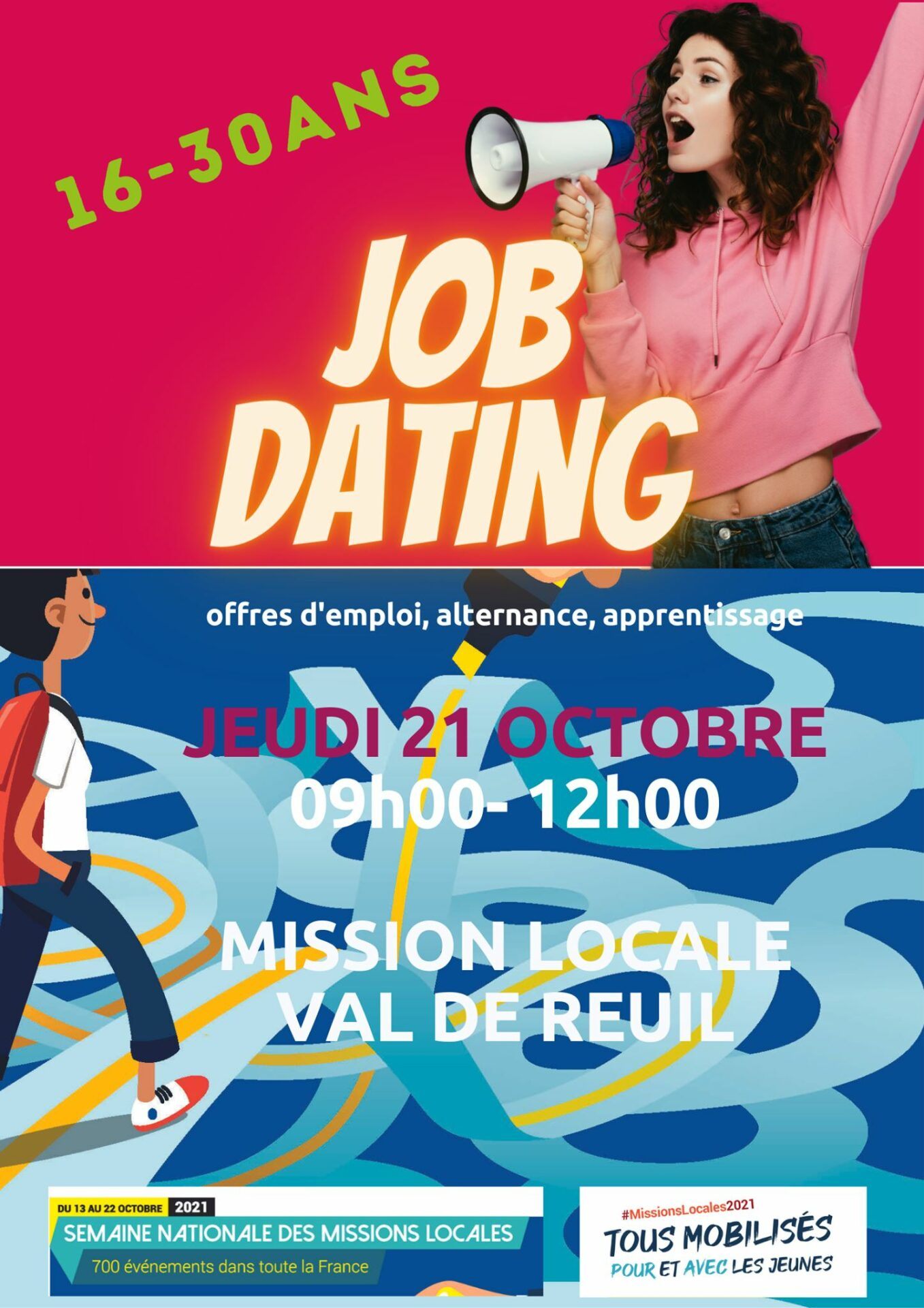"""Semaine nationale des Missions Locales 2021 : """"Job dating !"""""""
