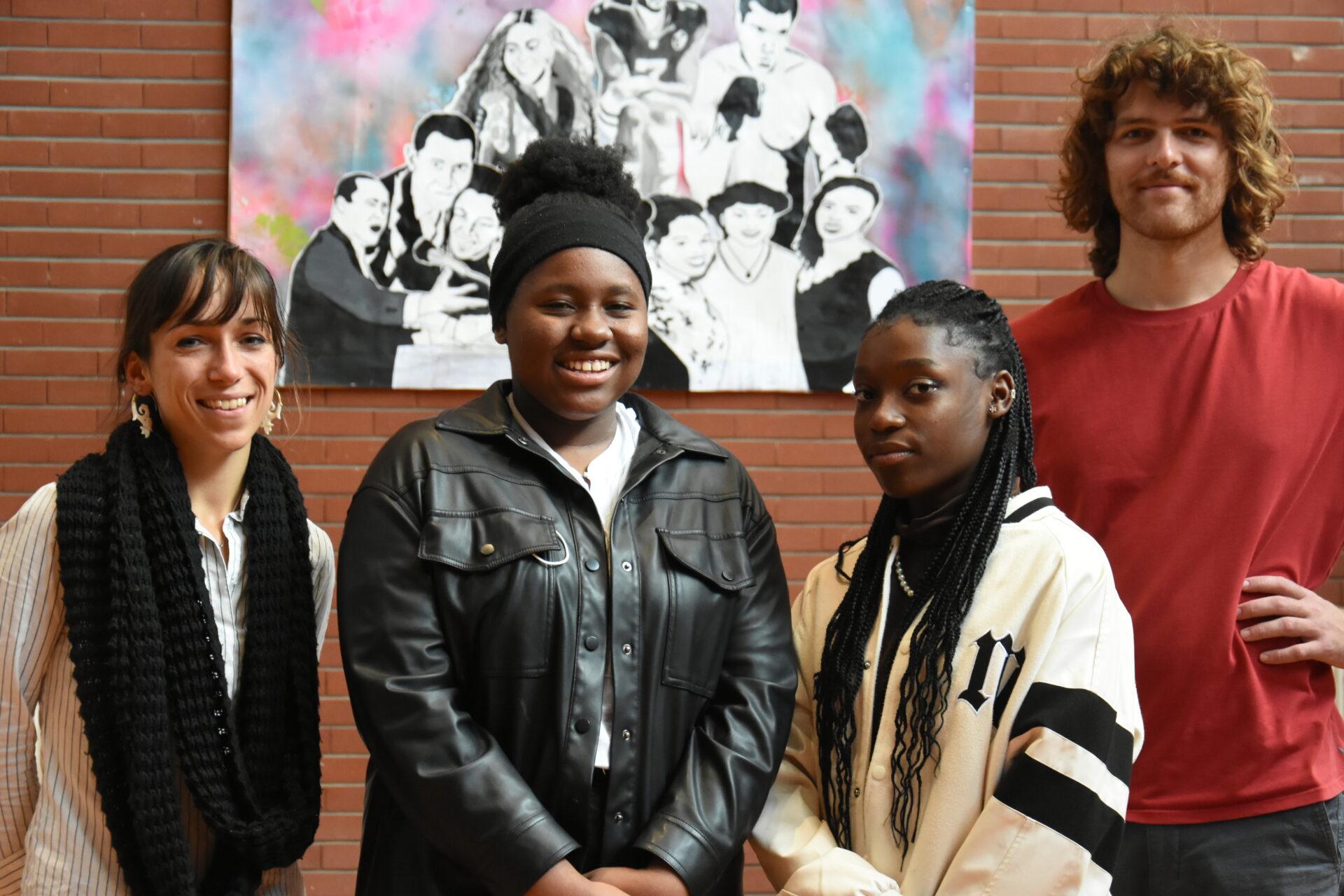 """Une fresque pour symboliser le mouvement """"Black Lives Matter"""" au lycée"""
