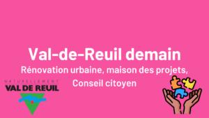 Val-de-Reuil demain - Rénovation urbaine Maison des Porjets Conseil citoyen